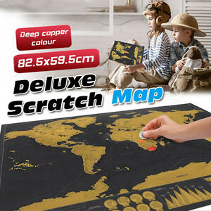 New deluxe large scratch map personalised world map travel image is loading new deluxe large scratch map personalised world map gumiabroncs Image collections