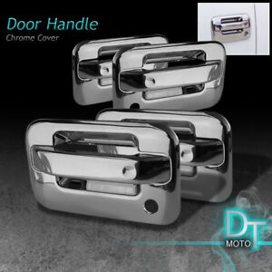 2004-2013 Ford F150 4Dr Chrome Door Handle Cover w/Passenger Key Hole,No Key Pad