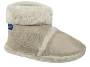 Ladies Girls Coolers Furry Toggle Ankle Boot Bootee Slippers Sizes 3-8