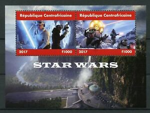 Central African Republic 2017 CTO Star Wars 2v M/S Movies Films Stamps