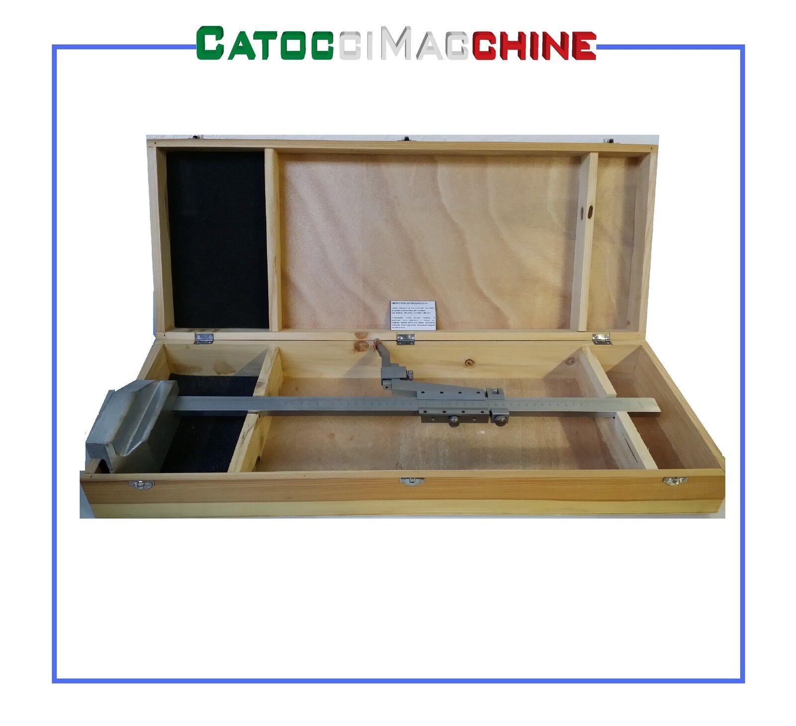 CALIBRADOR DE LA ALTURA CROMADO DE ACERO CROMADO ALTURA MATT FERVI T100 500 a4c4c5