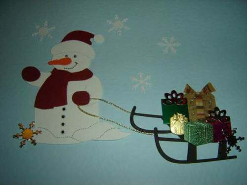 FROSTY THE SNOWMAN DIE CUTS FOR CARD TOPPERS