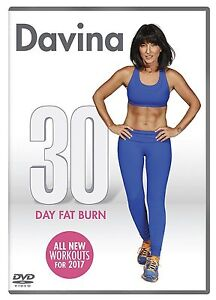 DAVINA-30-DAY-FAT-BURN-DVD-Excercise-Fitness-Training-WORKOUT-Routines-UK-NEW-R2