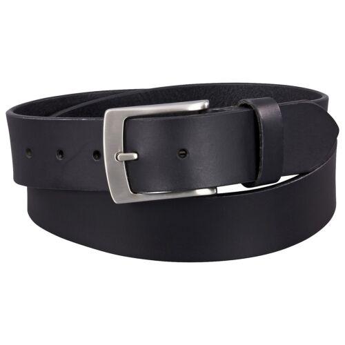 Gürtel in Überlänge bis 175 Herren Ledergürtel 4cm breit schwarz ECHT LEDER
