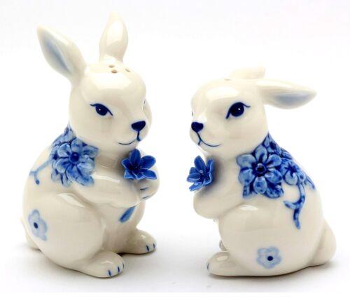 Blue Print Bunnies Salt /& Pepper