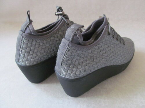 NEW STEVEN MADDEN BASE PEWTER COMFORT WEDGE SHOES SIZE 9