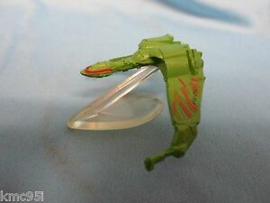 Star-Trek-Klingon-Bird-of-Prey-Ship-Micro-Machines-Loose-with-Stand
