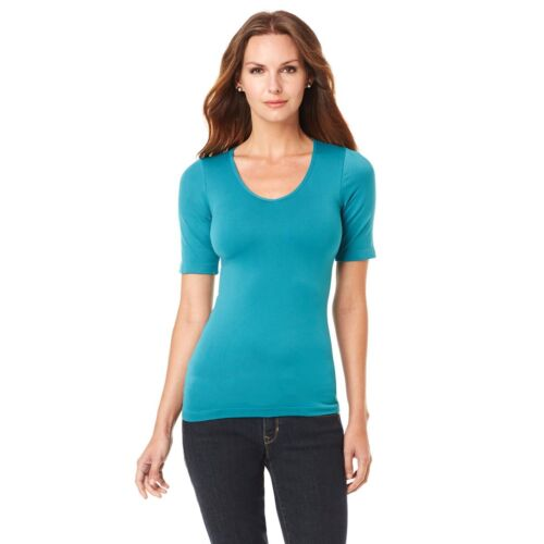 Rhonda Shear Seamless Short-Sleeve Top 356900-SS