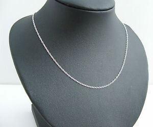 925-Sterling-Silver-18-Inch-long-ladies-Trace-Link-necklet-chain-925
