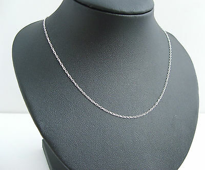 925 Sterling Silver 18 Inch long ladies Trace Link necklet chain 925
