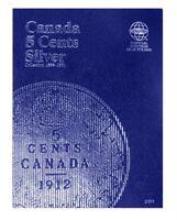 Canada 5 Cent, Silver 1858-1921, Whitman Coin Folder