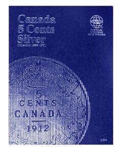 Canada-5-Cent-Silver-1858-1921-Whitman-Coin-Folder