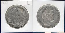 Louis Philippe Ier , 1830-1848 5 Francs 1833 L Bayonne TB / TTB Tranche Relief T