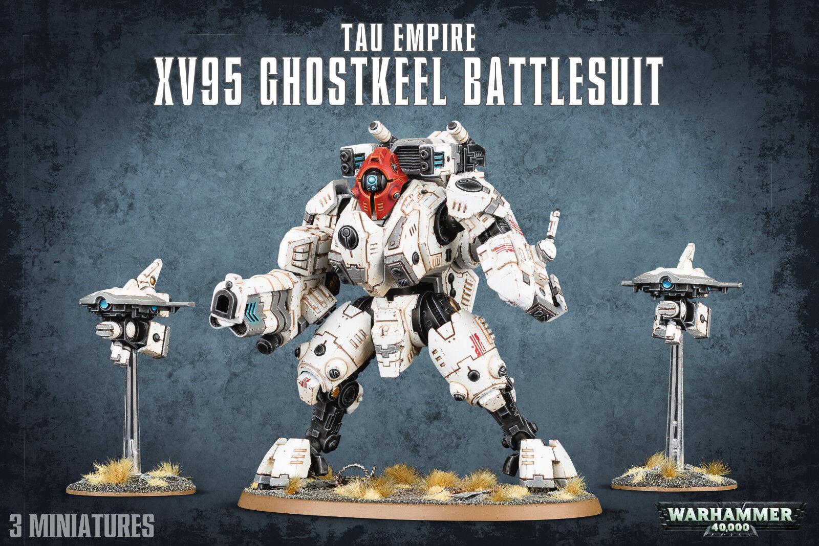 despacho de tienda T'au Imperio XV95 ghostkeel Battlesuit Battlesuit Battlesuit Tau Warhammer 40k Nuevo  barato