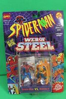 Spider-man Web Of Steel Diecast Spiderman Vs Hobgoblin Figure Set On Card