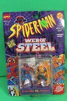 Spider-man Web Of Steel Diecast Spiderman Vs Hobgoblin Figure Set On Card