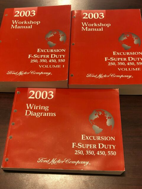2003 Ford Shop Service Manuals   Wiring Diagrams  Excursion  F 250 350 450 550