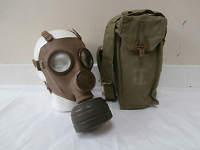 Belgian M51 Army Gas Mask With Filter & Bag Original Military Issue Equipment