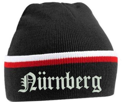Wintermütze mit Stick Nürnberg Mütze Trikot Bestickung