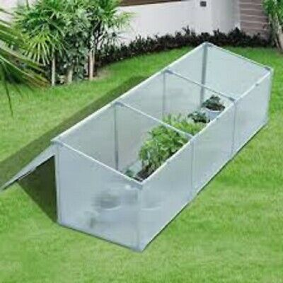 Greenhouse 71 Inch Polycarbonate Aluminum Vented Cold Frame Outdoor Garden Flowers Plant With Ebook