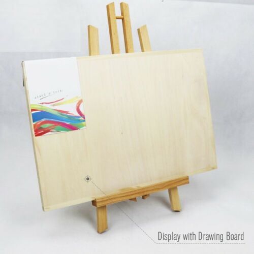 Pine Wood Easel 3 Sizes Tabletop Drawing Artist Wooden Fold Standing Easels