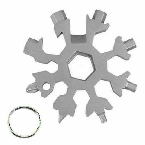 Key Chains Saker 18-in-1 stainless steel snowflakes multi-tool Snowflake Shape
