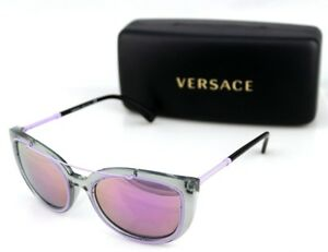 6103fa774f03 Image is loading NEW-Genuine-VERSACE-Transparent-Grey-Pink-Mirror-Sunglasses -