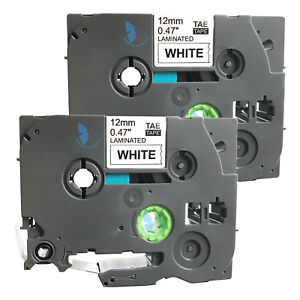 2-Compatible-for-Brother-P-Touch-TZE-TZe-231-TZ-231-Label-Tape-12mm-BK-White