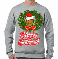 Mike Tyson Merry Christmas Funny Sweater // Ugly Xmas Jumper Size Small - Xl