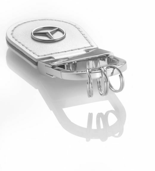 OEM Mercedes Benz Genuine Leather key chain ring Shanghai white B66958138
