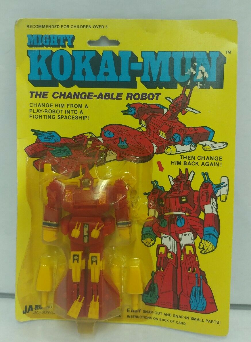 New RARE 1980s Mighty Kokai-Mun The Change-Able Robot Transformer by JA-RU