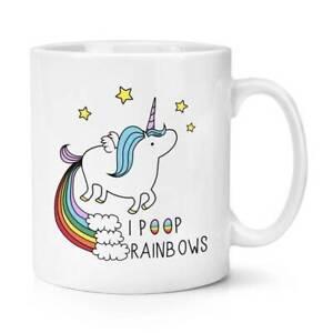 Unicorn I Poop Rainbows 10oz Mug Cup Funny Novelty Magical Fantasy