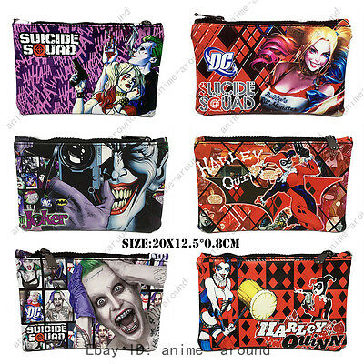 Suicide Squad Harley Quinn Joker Pencil Case Cosmetic Make Up Bag Storage Pouch
