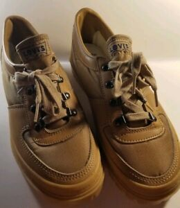 Levi-039-s-Tan-Men-039-s-Shoes-Sneaker-Canvas-Leather-Size-8-Brand-New-Throwback-Style