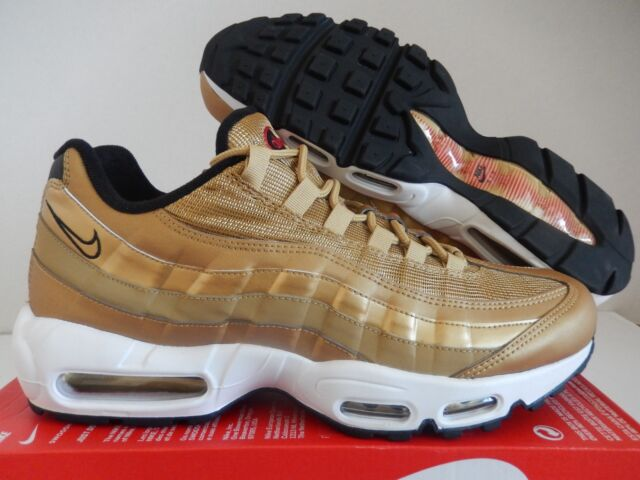 on sale a7e22 53dae MENS NIKE AIR MAX 95 PREMIUM QS METALLIC GOLD