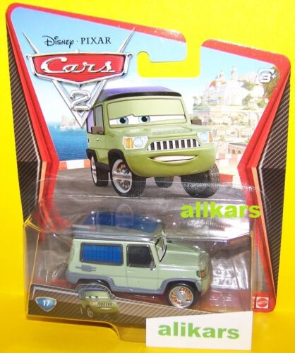 A Cars 2 Modellini Mattel 1:55 Disney Autos Metallo Giocattolo Coches Diecast