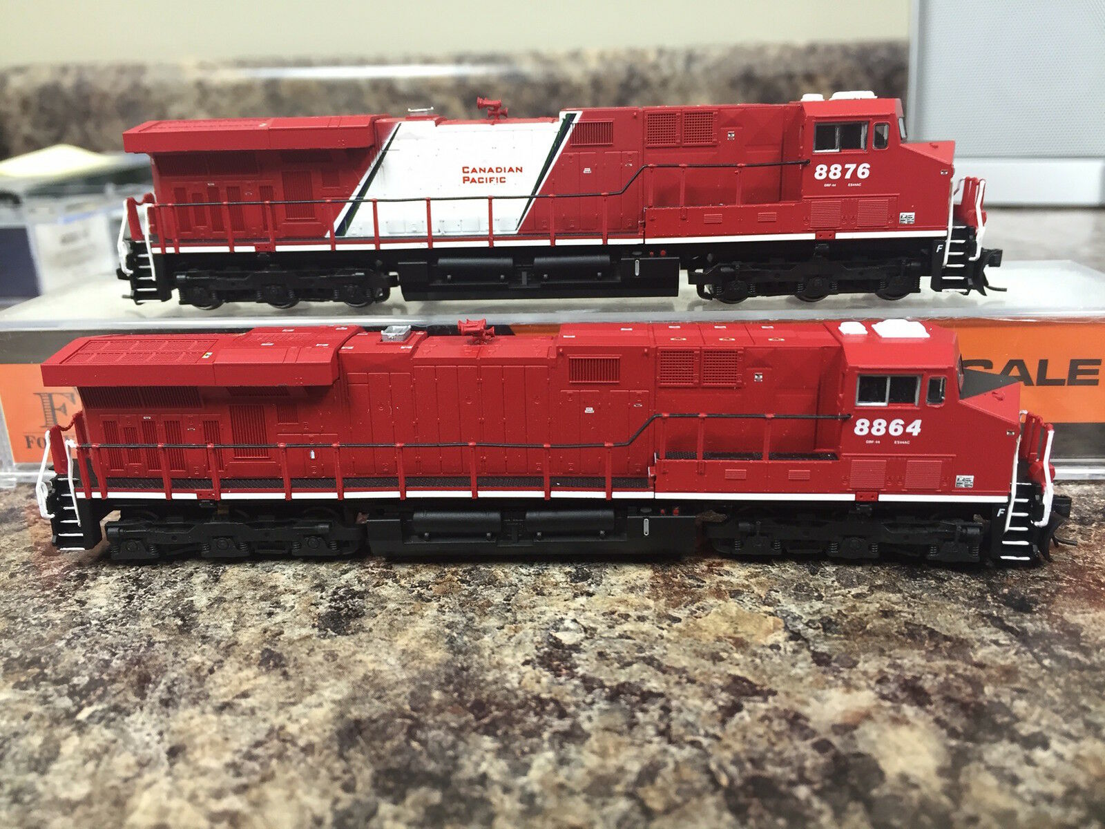 Fox Valley FVM N N N ES44 GEVO Canadian Pacific CP ex Olympic Two locomotive set 22ef62