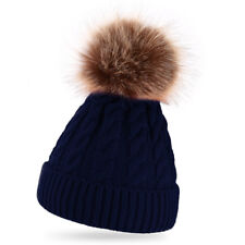 3d24367114d item 2 Womens Warm Winter Wool Knit Beanie Large Fur Pom Bobble Hat Knitted  Ski Cap -Womens Warm Winter Wool Knit Beanie Large Fur Pom Bobble Hat  Knitted ...