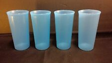 Tupperware Straight Sided Tumbler Aqua Blue Kids Rare 9 oz New Stacking