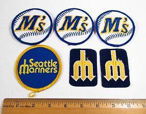 Vintage 1970s-80s Lot 6 Seattle Mariners MLB Baseball Jacket Uniform Patches