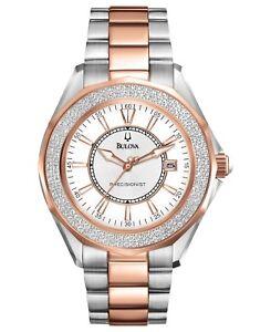 Bulova Precisionist Women's Quartz Diamond Accent 36mm Watch 36mm 98R163