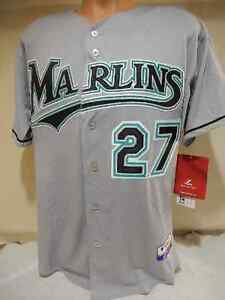 reputable site 014cd b2b91 Details about GIANCARLO STANTON MARLINS AUTHENTIC ROOKIE GREY JERSEY  MAJESTIC COOL BASE SZ 40