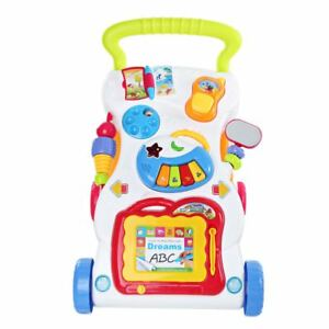 2 In 1 First Steps Baby Walkers  Sounds Music and Lights Fun Push Along Walker 651421321436