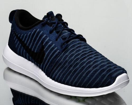 College New Nike Sneakers Menn 2 400 Two 844833 Lifestyle Navy Flyknit Roshe 0r8p0