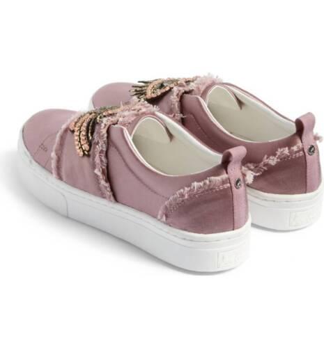 Edelman Uk £109 Box 4 Beaded Sam New 5 Levine Rrp Pink In Satin Pumps Designer qUw66tHv