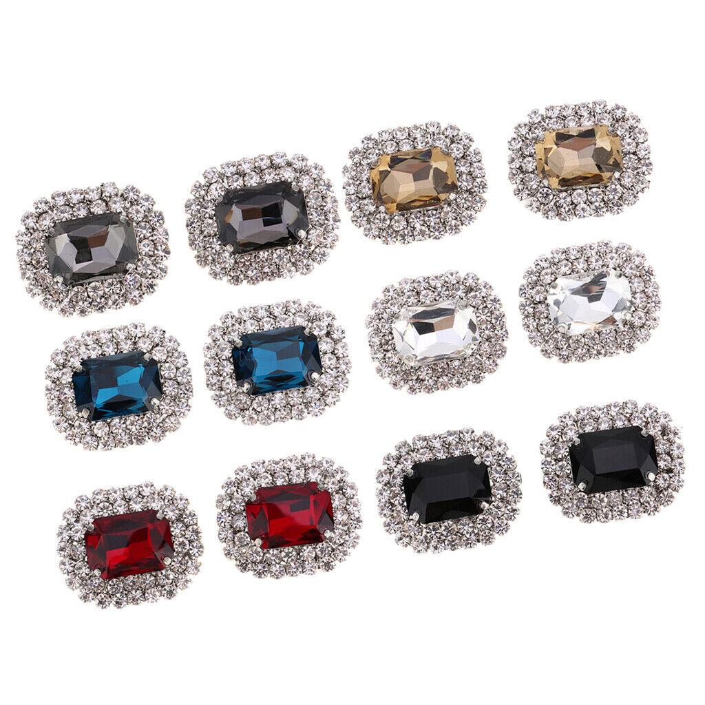 Set of 2 rhinestone shoe clips wedding bridal shoe clips buckle hanger for