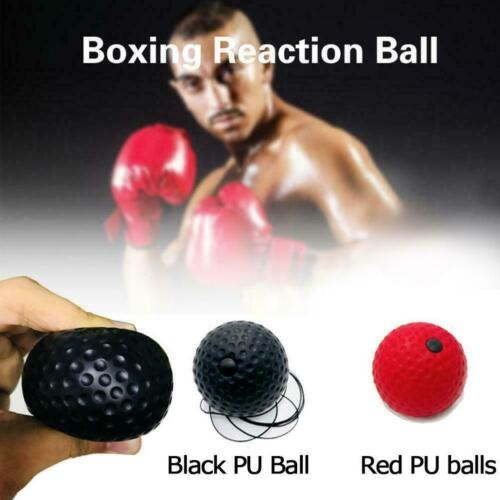 Fight Ball Reflex Boxing React Training Boxer Speed Ball String Head Punch O5M2