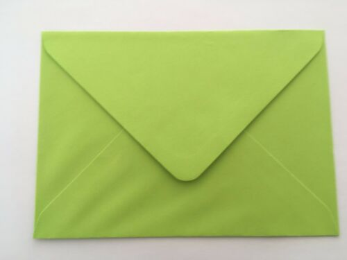 C6 A6 Bright Green Envelopes by Mad as a Crafter