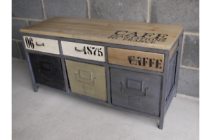 Vintage-Industrial-painted-sideboard-multi-Retro-style-Storage-Chest-console