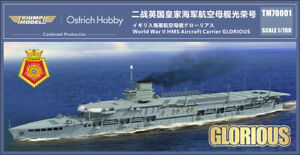 Ostrich Hobby 1/700 HMS Glorious aircraft carrier waterline resin kit